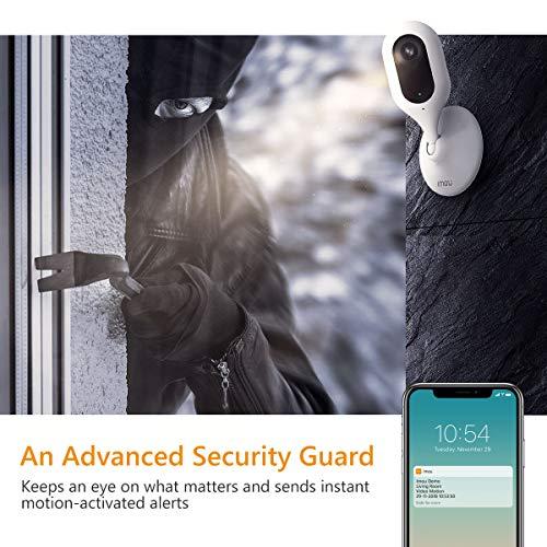 Imou Überwachungskamera 1080P FHD WLAN IP Kamera mit Nachtsicht, Bewegungserkennung, Zwei-Wege-Audio, 0-90 ° Manuelle Drehung, Mobile App Kontrolle