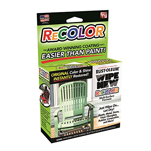 Rust-Oleum RRCAL WipeNew ReColor - Restore Faded Plastic and Metal (2.34 Oz Kit)