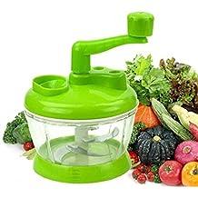LUKZER Manual Multi-functional Machine 4 Stainless Steel bladed Vegetable Cutter/Chopper/Mini Blender for vegetables