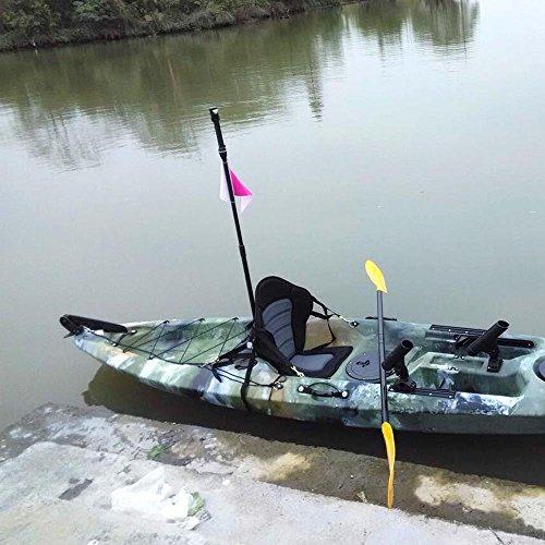 troxie (TM) canoa kayak barco inflable de respaldo de asiento Cojín asiento con Backbag de almacenamiento bote de remos barco de pesca accesorios