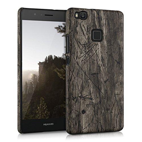 kwmobile Custodia rigida Design legno vintage per > Huawei P9 Lite < in marrone scuro