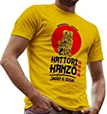 Hattori Hanzo Sword and Sushi Kill Bill Fan Made Shirt by LeRage Hemd Herren Gelb Small