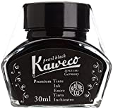KAWECO Tintenglas 30ml Schwarz (Schreibtinte für Füllhalter)
