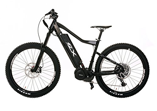 FLX Blade Electric Bicycle, Electric Mountain Bike with Suspension, Powerful Motor, Long-Lasting Battery, And Wide Range (Gloss Black, 17.5AH Battery)