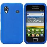Luxburg® Housse Etui Coque Samsung Galaxy Ace silicone case TPU Bleu