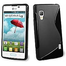 VCOMP -Funda de silicona con diseño S-Line para LG Optimus L5 II E460 (no compatible con LG L5 II E455 Dual Sim)