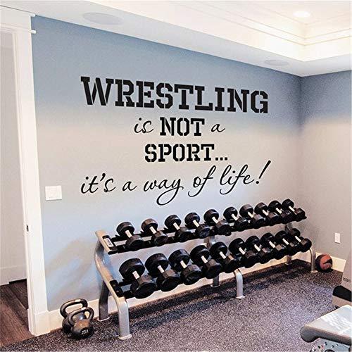 Wandtattoo Wohnzimmer Sport Wrestling ist keine Sportart, sondern eine Lebenseinstellung für das Fitnessstudio (Wrestling-kaffee)