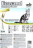 AMI CAT ECOsand Öko Katzenstreu 6 x 3kg Vorrats-Pack | Nachhaltiges Katzenstreu biologisch abbaubar | kompostierbar | klumpend | klebt nicht an den Pfoten | geruchsbindend | rein pflanzlich vegan