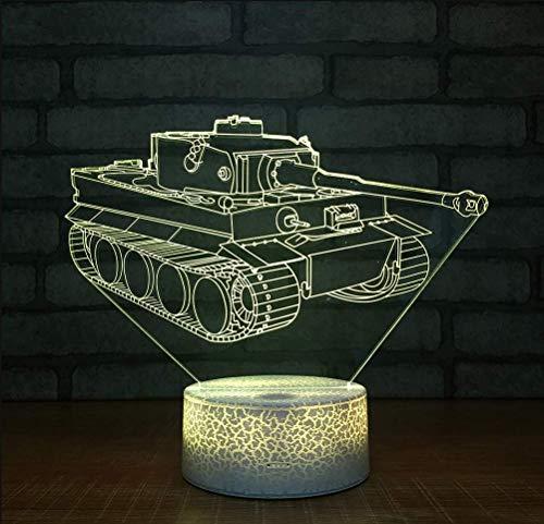 3D Illusion Light,Crackle White Base Tank 3D Led Lampe 7 Farben Burst Led Nachtlampe Für Kid Touch Led Usb Tisch Baby Schlafen Nachtlicht Raumlampe -
