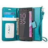 J&D Case Compatible for Xperia X Case, [Wallet Stand] [Slim
