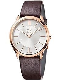 Calvin Klein Reloj Analogico para Hombre de Cuarzo con Correa en Cuero  K3M216G6 0434bca43462