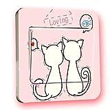 Lichtschalter Sticker Katze Aufkleber für Lichtschalter