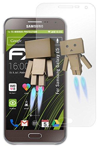atFolix Displayfolie für Samsung Galaxy E5 Spiegelfolie, Spiegeleffekt FX Schutzfolie (E5 Samsung Handy)
