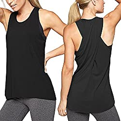 Ropa Camiseta sin Mangas Tank Tops para Mujeres, Verano Sexy Deporte Casual Yoga Chaleco Blusa Tops Blusas Crop Tops Vest T Shirt Mujeres (Negro, L)