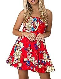 Vectry Kleider Damen Kleid Brautjungfernkleid Petticoat Lange Kleider  Sommer Jumpsuits Kurz Ballkleid Kleiderbügel Damenkleider… faab448ba8