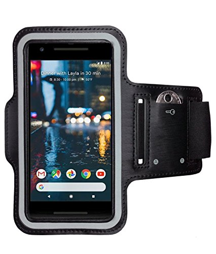 CoverKingz Google Pixel 2 XL Sportarmband Fitness-Hülle Schwarz Jogging-Case mit Schlüsselfach Handy-Lauf-Tasche Running-Case Handy-Tasche Sport Fitness-Armband