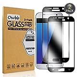 Owbb 2 Stück Schwarz Gehärtetes Glas Display schutzfolie Für Samsung Galaxy S7 Full Coverage Schutz 99% High Transparent Explosionsgeschützter Film