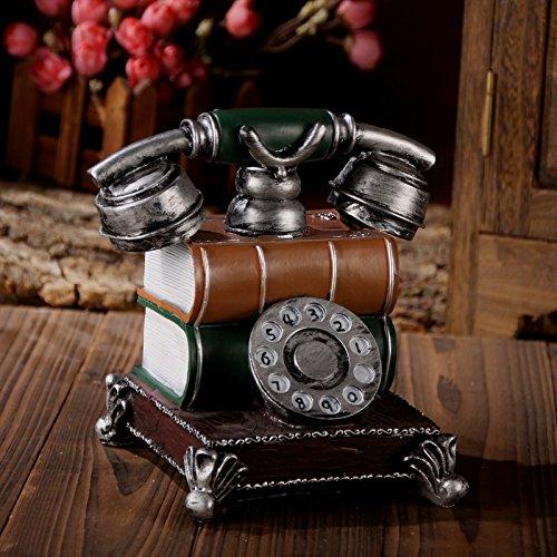 Preisvergleich Produktbild GFEI retro - telefon piggy ornamente harz / bar / tv - kabinett - wein schaufenster - dekoration.,die silbernen