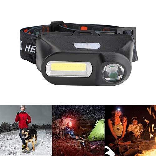 Led-Scheinwerfer Taschenlampe Wiederaufladbare USB-Taschenlampe Camping Wandern Nachtfischen Licht Werkzeuge for Läufer, Leichte, wasserdichte, Einstellbare Stirnband (Läufer Strobe)