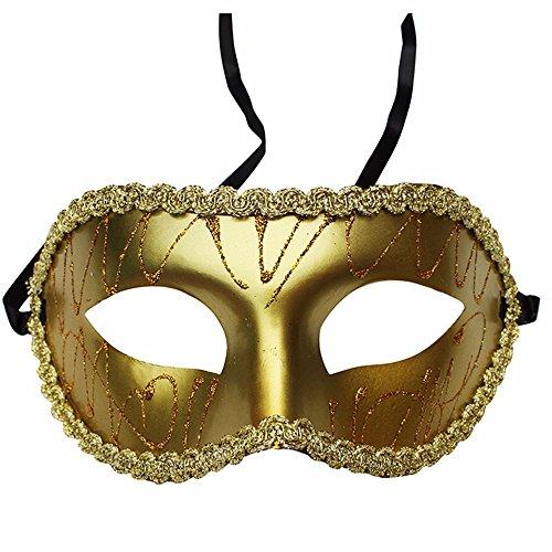 ONE-K Mask Spitze Halloween Maske Maskerade Maske Flach Gemalt Maske Weihnachten Halbe Gesichtsmaske, ()
