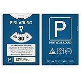 (20 x) Einladungskarten Geburtstag als Parkscheibe Auto Karte Einladungen