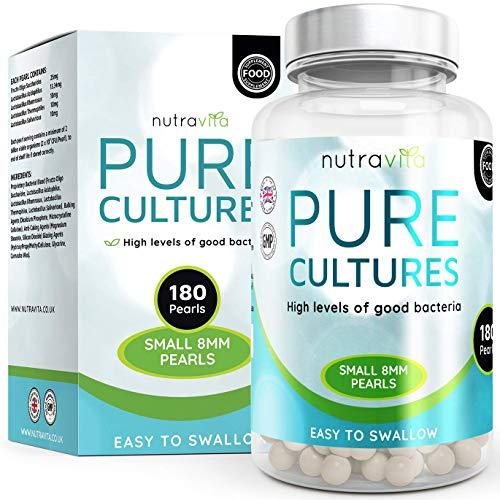 Nutravita Kulturen Komplex | Dreifache Stärke 2 Milliarden KBE |180 höchst dosierte Rein Kulturen Komplex Perlen (6 Monatsvorrat) - Effektiver als Kapselform