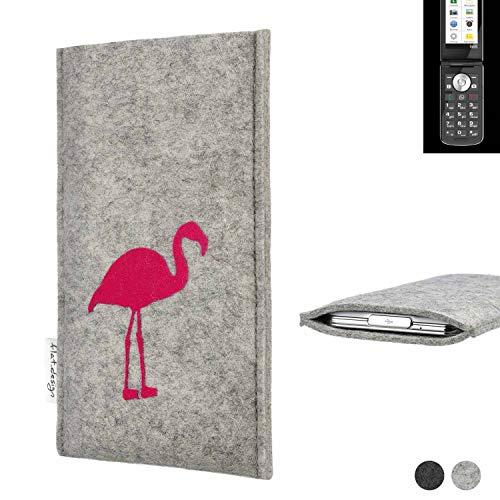 flat.design Handy Hülle für Emporia TOUCHsmart FARO mit Flamingo Filz Schutz Tasche fair handgemacht Case