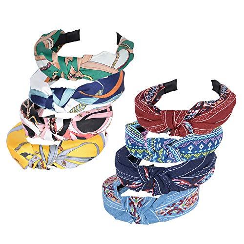 Cerchietti per Capelli Donna 8 Pezzi Vintage Fasce Feinili Fascia Fermacapelli Turbante della Testa Accessori dei Capelli per Donna Ragazza 8 Colori
