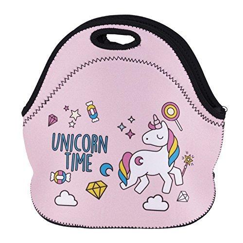 Zmvise Magical Unicorn DAB Dancing Dreamer Lunch Tote isotherme réutilisable Picnic Lunch Sacs Boîtes pour homme femme adultes enfants Toddler infirmières