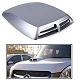 #10: RIDAR Silver Double Vent Air Intake Car Bonnet Scoop Hood for Nissan Sunny