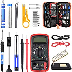 ETEPON Lötkolben Set, 60W Lötstation Temperatur Regelbar mit Digital Multimeter (upgrade)