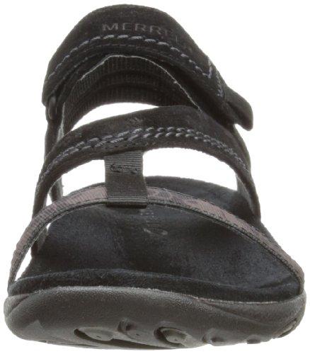 Merrell MIMOSA MACE J57522, Sandali sportivi donna Nero (Schwarz (BLACK))