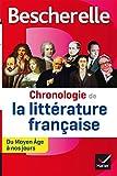 Bescherelle Chronologie de la littérature française: du Moyen Âge à nos jours...