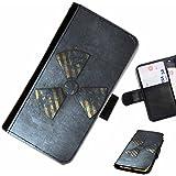 Hairyworm- danger Samsung Galaxy S3 Mini (I8190, I8190N) étui en cuir pour téléphone avec rabat, style portefeuille avec emplacements pour les cartes et l'espèce, et fermeture magnétique.