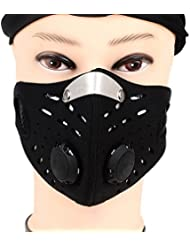 Max & Mix Universal Sports de Plein Air activated Carbon Riding Mask filtro Air pollutant máscara anti-poussi ¨ ¨ re Racing Esquí Half máscara para V ¨ ¦ lo Voyager Activit ¨ ¦ s en plein air protección, Negro