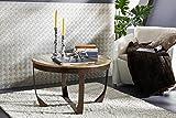 MASSIVMOEBEL24.DE Massivmöbel Industrial-Stil Couchtisch 75x75 Altholz Eisen Lackiert massiv Holz Industrial #01