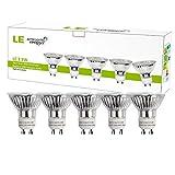 Abbildung LE 5er GU10 LED Lampen, ersetzt 50W Halogenlampen MR16 3.5W Warmweiß 3000K 120° Abstrahwinkel LED Birnen Leuchtmittel 350lm