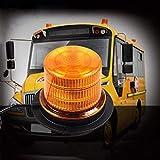 Warnleuchte led, Rundumleuchte Orange, 48 Rundumleuchte Led Magnet - EIS, Schnee, Frost und Wind Wetter, Eignet für die Meisten Fahrzeuge