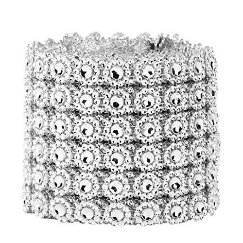 Schmuck Kostüm Handwerk - DIY Kristall Strass Kette Trim Klar Kuchen Band Kostüm Kleid für Schmuck Handwerk Bekleidung Kleidung Nähen auf Zubehör
