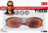 3M FUELX2RE - Gafas de seguridad con protección impactos, amarillo y rojo