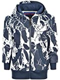 BEZLIT Jungen Kinder Hoodie Kapuzen-Pullover Sweatshirt Sweater Sweatjacke 22898 Blau 104