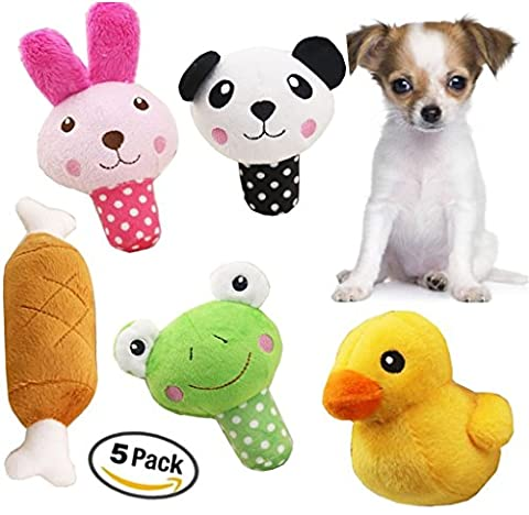 Small Dog Toys Squeaky Dog Toys Pets Squeaky Toy YOTOLI Squeaky Dog Toys for Small Medium Dogs, 5 PCS Dog Plush Toys