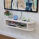 YT-ER Regal lagerregal Floating Regal Set Top Box Regal Wandmontiertes WiFi Rack Wohnzimmer Fernseher Wanddekoration Partition Schlafzimmer Router Aufbewahrungsbox 4 Farbe Optional Tragen Sie schwere