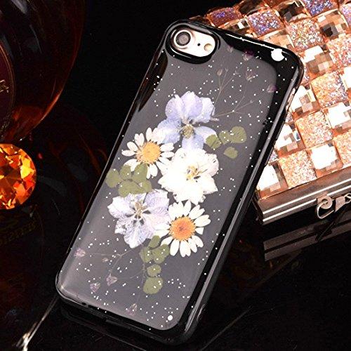 Pour iPhone 6 Plus et 6s Plus Epoxy Dripping Pressed Real Dried Flower Housse de protection TPU Soft Case arrière YAN ( SKU : Ip6p2295c ) Ip6p2295g