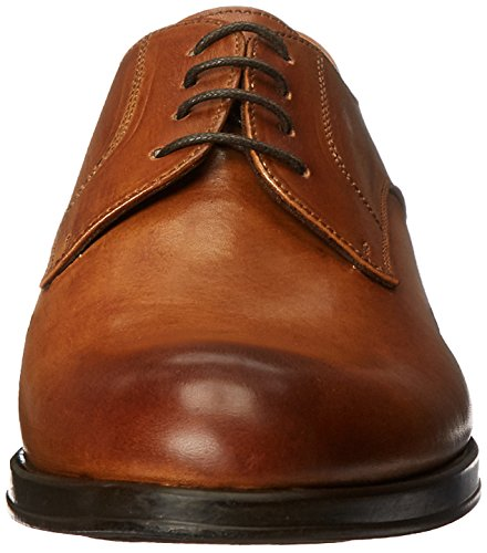 Kenneth Cole NY Speed Dial Hommes Cuir Oxford Cognac