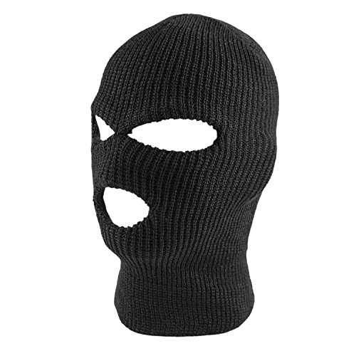 Super Z Outlet Knit Black Face Cover Thermal Ski Mask For Cycling & Sports (Cap Protec)