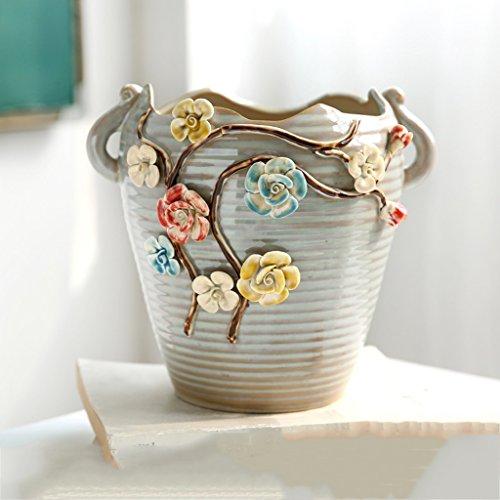 Pincée à la Main Fleurs Plantes succulentes Pot de Fleurs en Pot Plantes en céramique Marron Haute 7 Pouces Extraction et Traitement du Miel