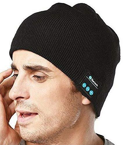 GZCRDZ Unisex Smart Bluetooth Beanie gorro de punto invierno inalámbrico auriculares con 2 altavoces - Único de Navidad regalos para jóvenes niños, niñas, hombres,mujeres