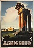 """Millésime Voyage en ITALIE """" Agrigento """" - Sur Format A3 Papiers Brillants de 250g. Affiches de Reproduction..."""