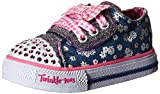 Skechers Shuffles Daisy Dotty, Mädchen Sneakers, Blau (DNPK), 25 EU (8 Child UK)